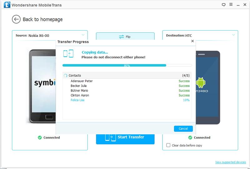 Transférer des contacts de Nokia vers HTC
