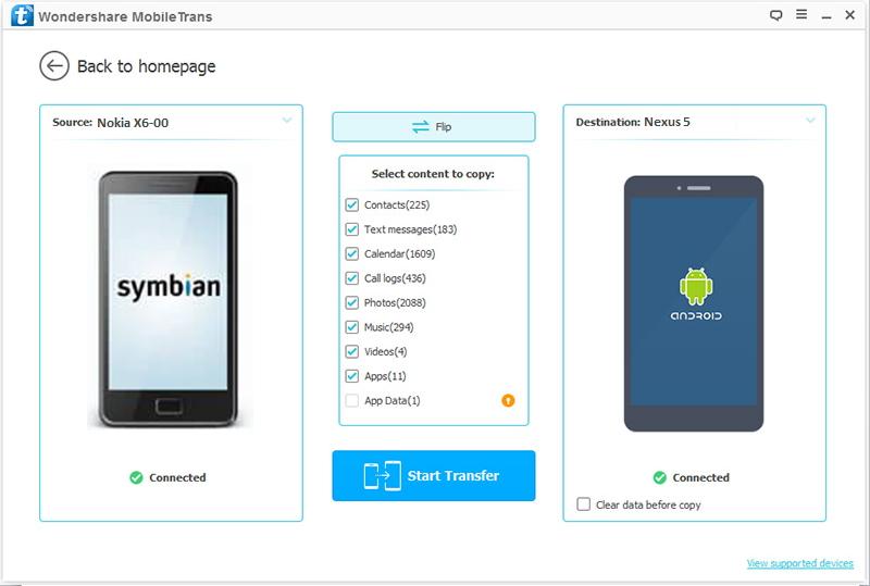 Transférer des contacts de Nokia vers Nexus 5