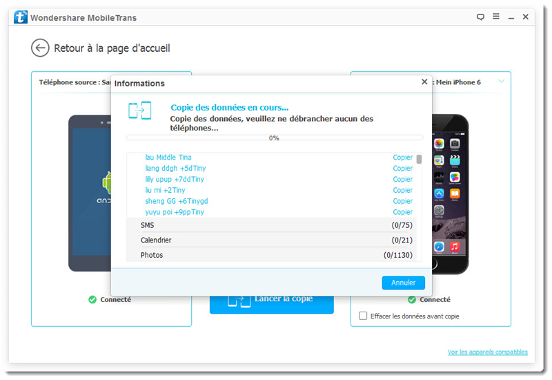 transfert donnees iphone vers s4