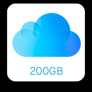 200 gb free icloud storage
