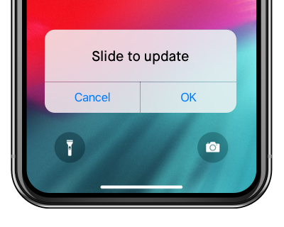 ios 12 problem - stuck on slide to upgrade