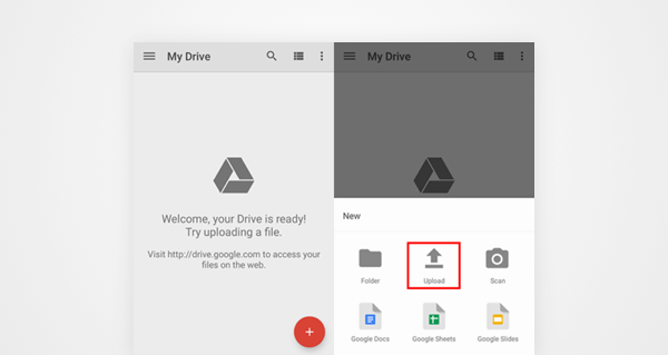 transfer photos to new phone using google drive