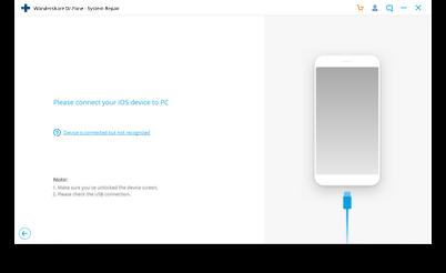 iOS-Systemwiederherstellung Schritt 1