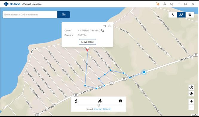 drfone virtual location