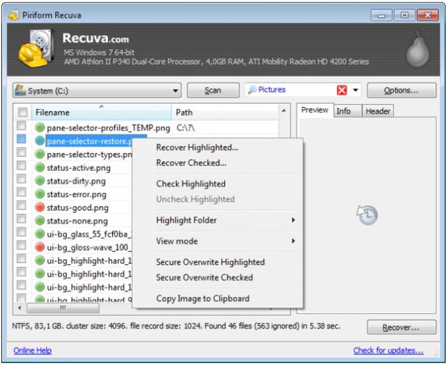 free Recupero Dati Android app
