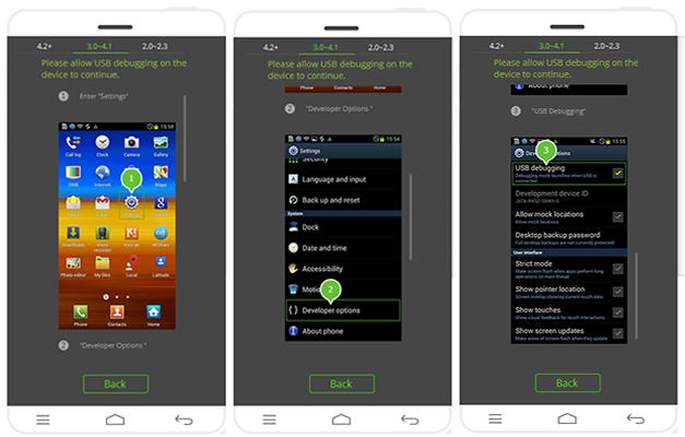 enable usb on android running 3.0
