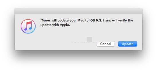 eliminare l ios 9.3 e aggiornamento l ios 9.3.1