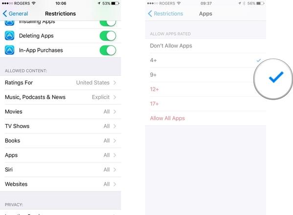 verificare che l app store non e limitato