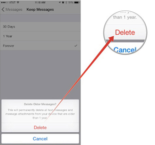 come eliminare i vecchi messaggi sull iphone