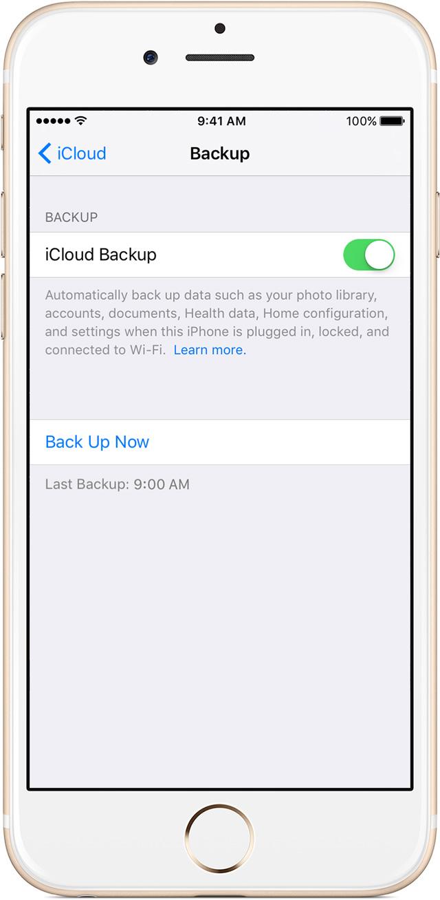 fai il backup dei tuoi dati sull iphone