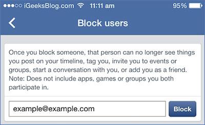 come bloccare su facebook tramite iphone o ipad