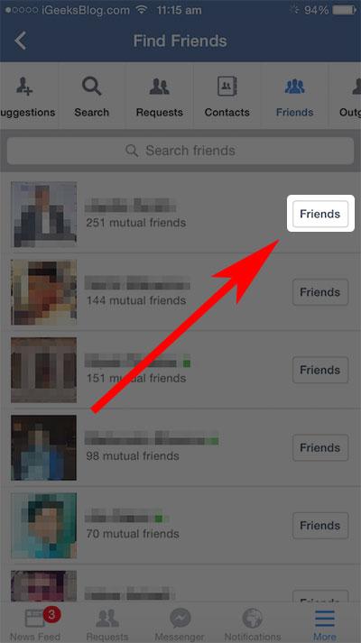 come rimuovere un contatto dalla lista amici su iphone o ipad