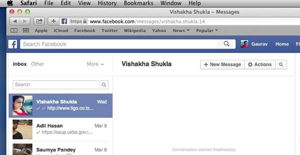 come faccio visualizzare i dati in altro su facebook da diverse piattaforme
