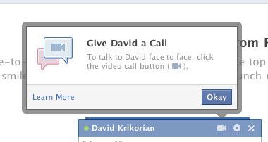 non cee alcun pulsante di chiamata video