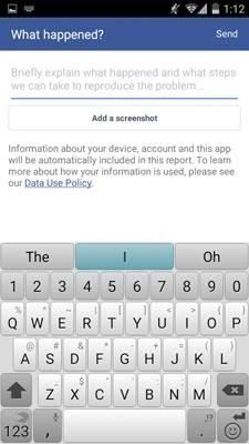 impossibile inviare e ricevere messaggi tramite messenger