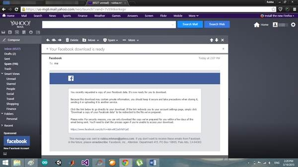 come esportare salvare e stampare i messaggi di facebook dai dati di facebook opzione download