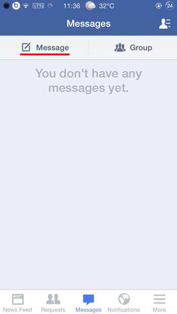 Come Inviare Facebook Messenger Messaggi / Foto / Video su iOS