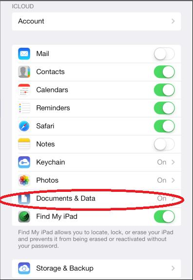 documenti da icloud