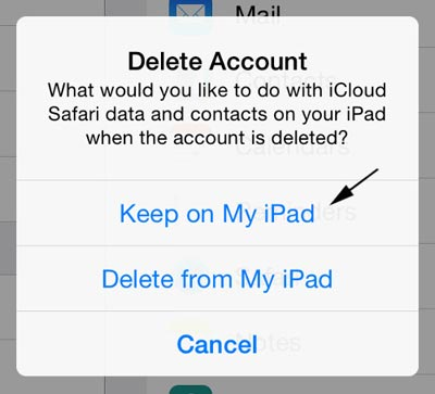 come eliminare account icloud su ipad e iphone