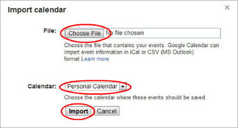 icloud calendar to android
