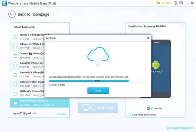 sync icloud contacts with android