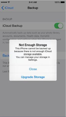 iphone non puo eseguire il backup di icloud