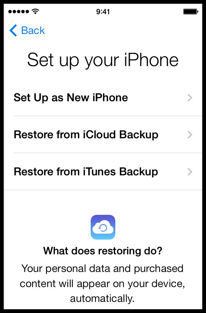 iphone restore