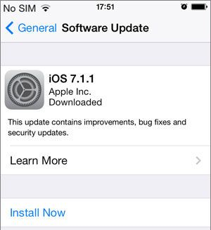 software update iphone
