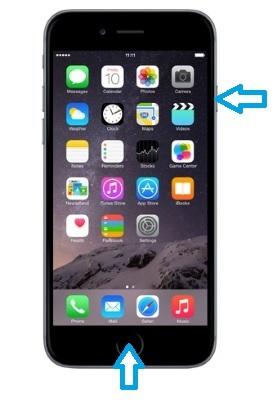 lo schermo congelato di iphone non si spegne