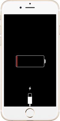 lo schermo congelato di iphone nero e non risponde