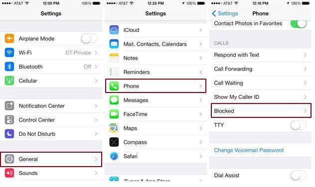 Come trovare i numeri di telefono bloccati sull'iPhone