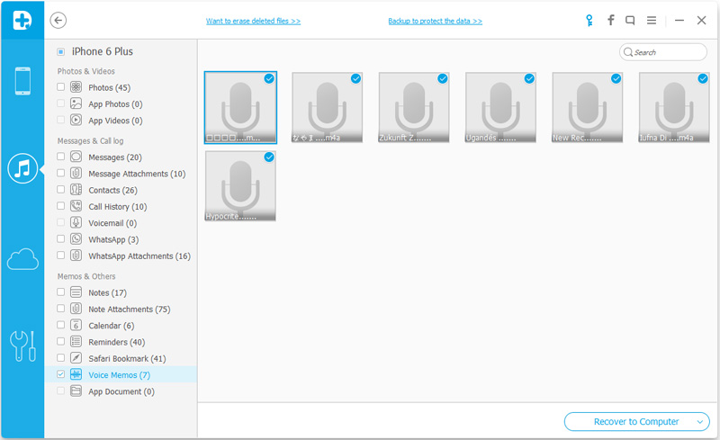 recupera i messaggi vocali dal backup itunes