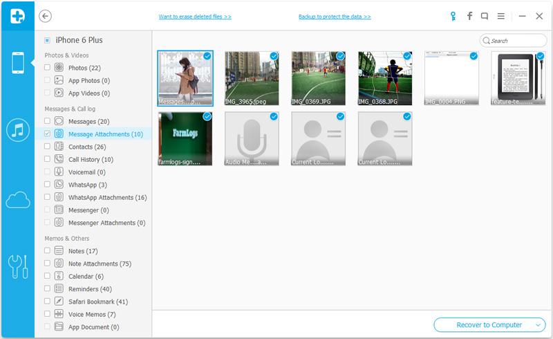 scansare direttamente il tuo iphone per recuperare i messaggi con immagini cancellati