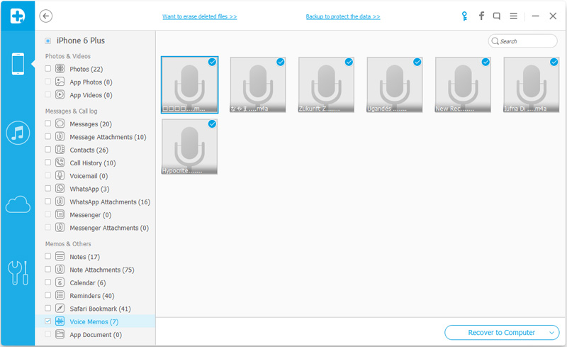 ripristina i messaggi vocali direttamente dall iphone