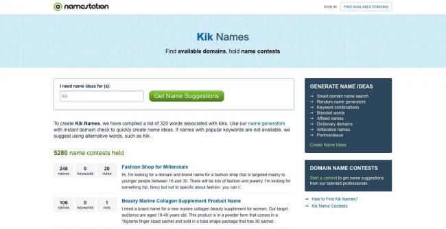 top 10 siti per nomi kik buoni carini e cool