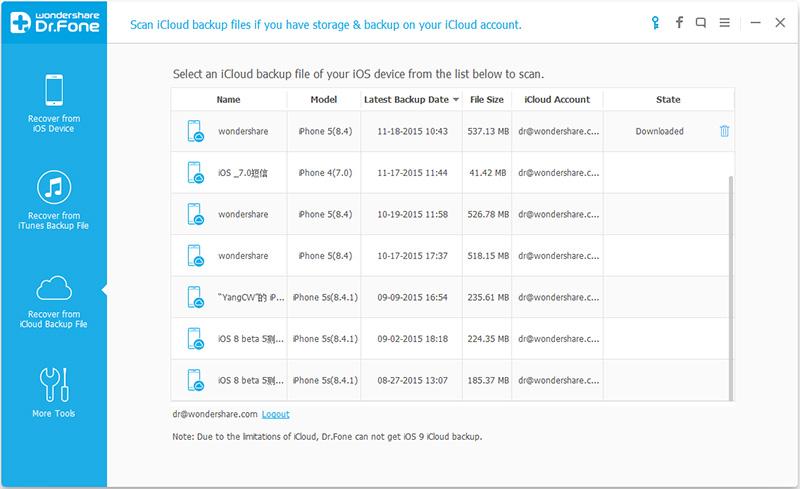 come visualizzare i vecchi messaggi kik nel backup di icloud