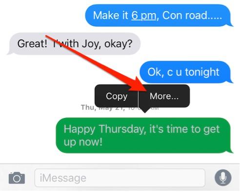 cancellare messaggi di testo in ios 9