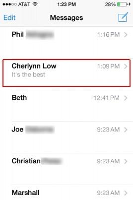 come cancellare messaggi di testo in ios 7