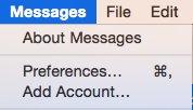 abilita il messaging sms sul mac