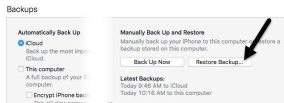 ripristina il tuo iphone ipad