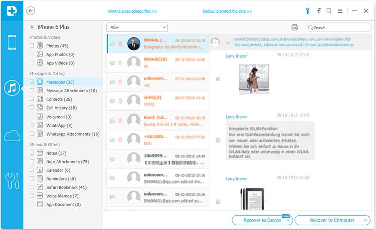 stampa i messaggi del tuo iphone da un backup itunes