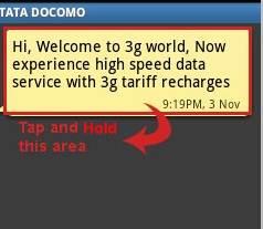 come usare il message forwarding su telefoni android