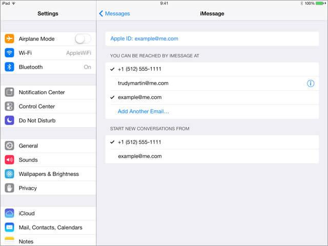 manda testo da ipad con imessage ad altri utenti apple