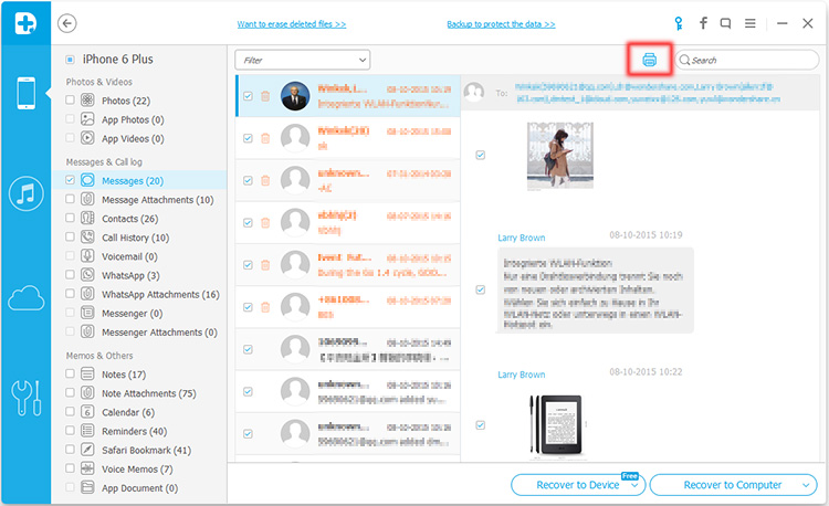 recupera messaggi di testo cancellati dall iphone tramite backup icloud