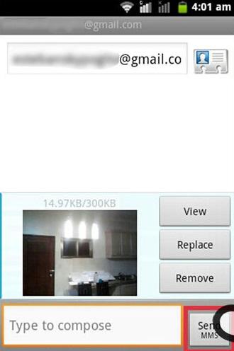 manda messaggi di testo tramite e mail