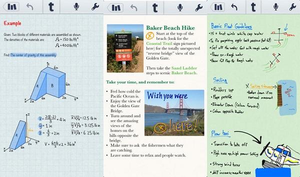 app note su ipad
