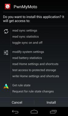 dispositivi motorola radice con pwnmymoto app