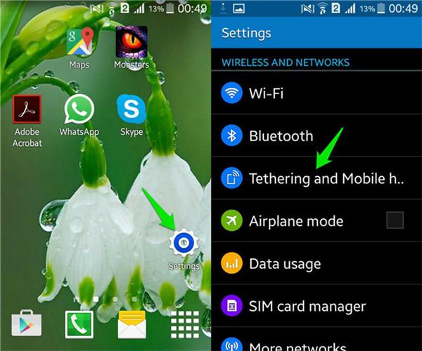 come utilizzare il tethering wifi sul telefono android