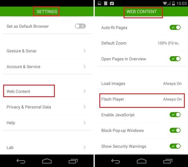 come installare flash player sugli smartphone samsung