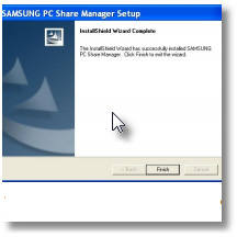 come installare samsung pc share manager
